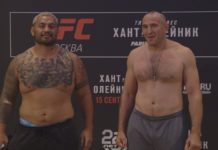 UFC Moscow Fight Night weigh-ins