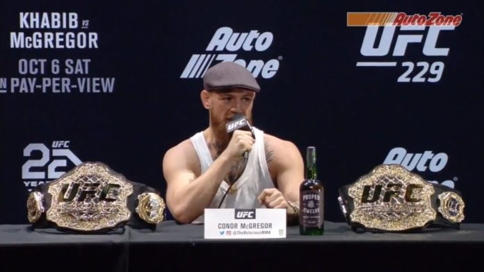 Conor McGregor at UFC press conference