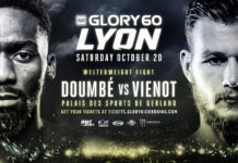 Cedric Doumbe vs Jimmy Viennot headlines GLORY 60 Lyon
