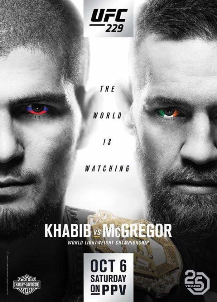 UFC 229 Khabib vs McGregor fight card revised