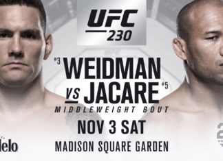 Weidman v. Jacare co-headlines UFC 230