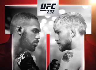 UFC 232: Jones vs. Gustafsson 2 event poster landed