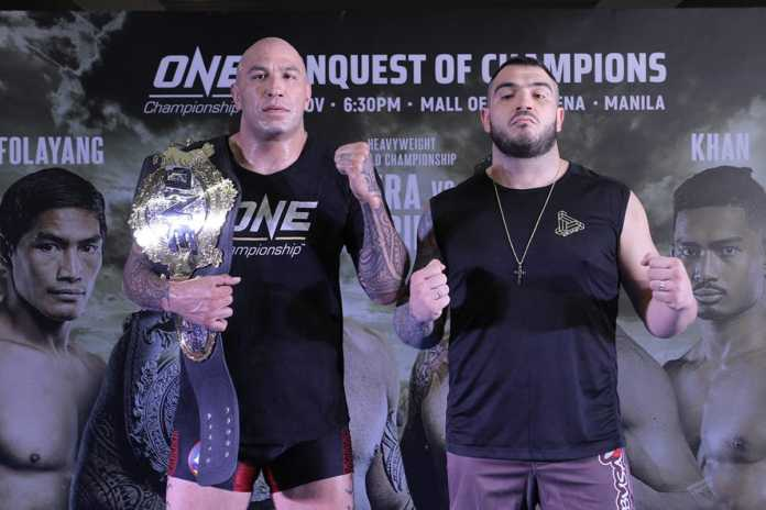 Heavyweights Brandon Vera and Mauro Cerilli faceoff for ONE Championship title