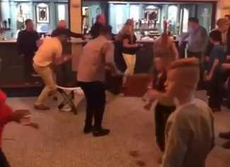 Crowd brawl at kickboxing event Shannon, County Clare
