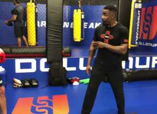 Michael Jai White training with Ben Saunders