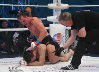 Nate Landwehr vs Andrey Lezhnev headlines M-1 Challenge Atyrau