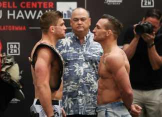 Bellator Hawaii Primus vs Chandler weigh-ins