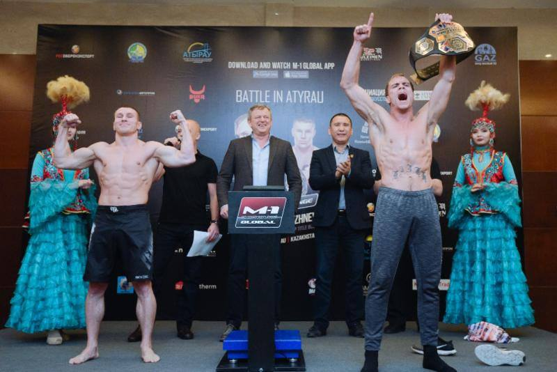 M-1 Challenge: Nate Landwehr vs. Andrey Lezhnev weigh-in results