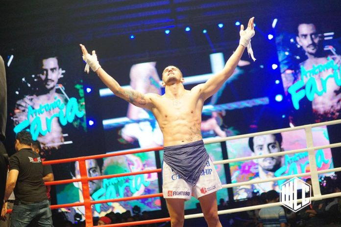 Antonio Faria becomes WLC Light Welterweight champion / Pic: Supplied