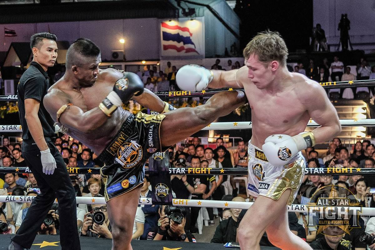 Buakaw Banchamek defeats Artem Pashporin at All Star Fight: World Soldier