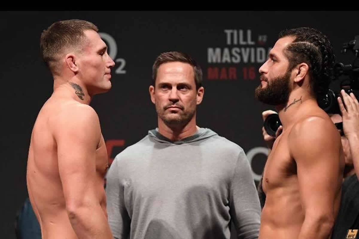 UFC London weigh-in results for Till vs. Masvidal on ESPN+
