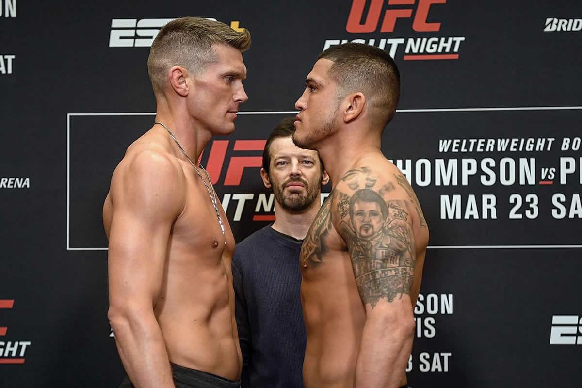 UFC Nashville weigh-in results for Thompson vs. Pettis, Pena misses weight