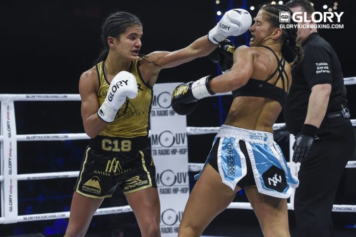 GLORY Kickboxing Super Bantamweight champion Anissa Meksen defends her title