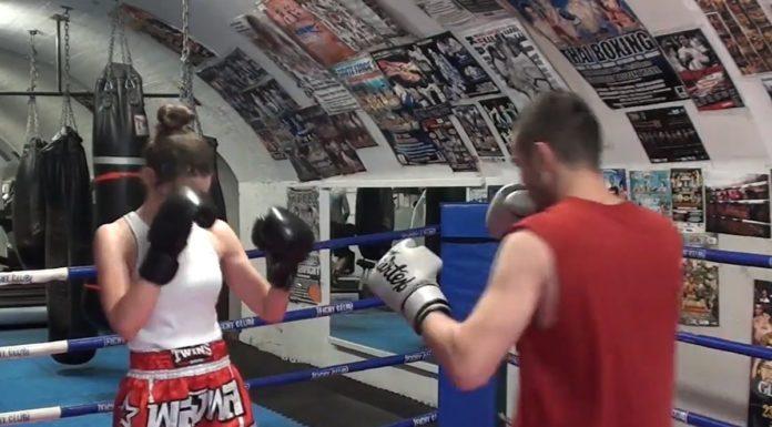 Lilian Dikmans Muay Thai training with Parviz Iskenderov