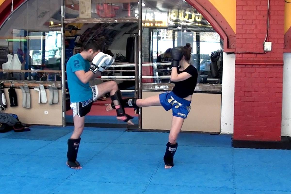 Muay Thai Drills: Leg Check & Counterattack