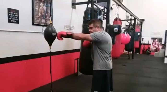 Floor to Ceiling Ball Training in Boxing