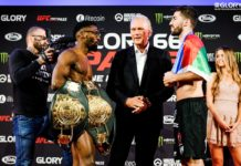 GLORY 66 weigh-ins: Cedric Doumbe faceoff Alim Nabiyev