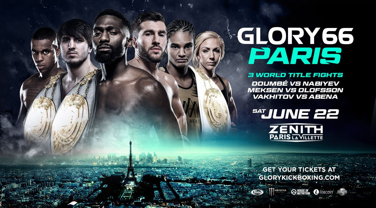 GLORY 66 Paris features a trio of championship bouts