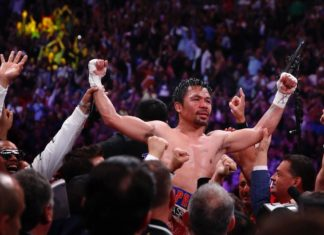 Manny Pacquiao victorious over Keith Thurman