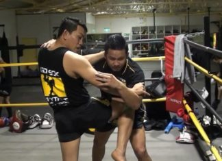 Muay Thai clinch in MMA