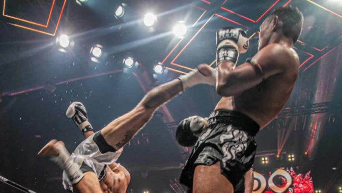 Saenchai partakes in Thai Fight Bangsaen