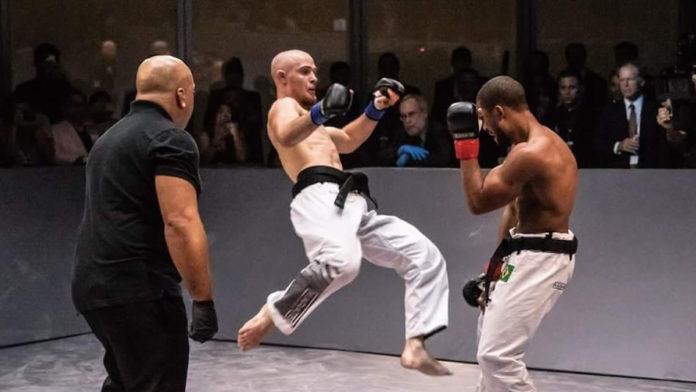 Edgars Skrivers takes the first event Karate Combat Golden Belt