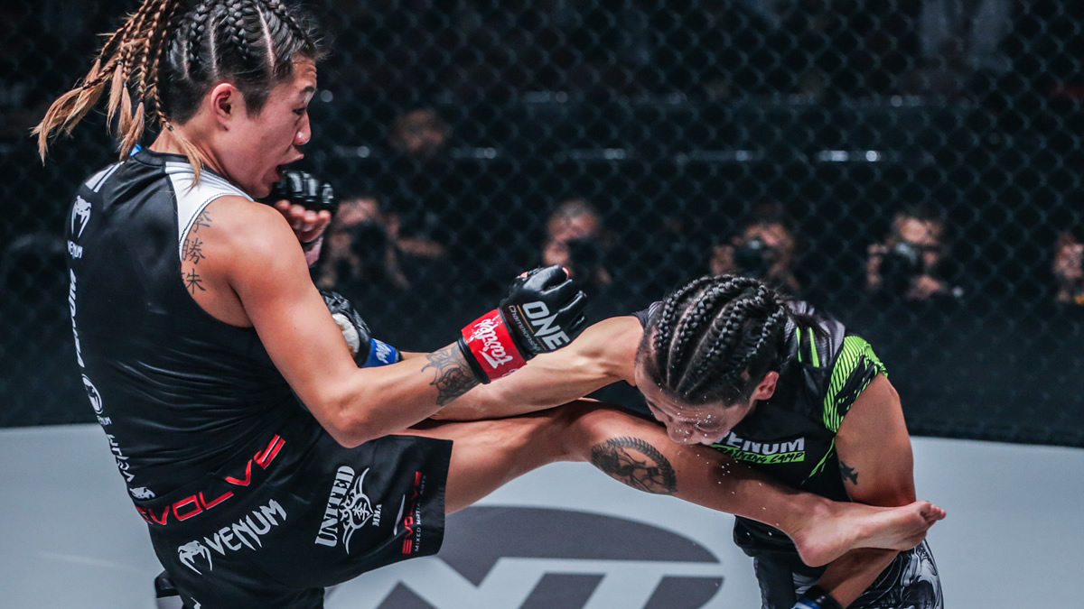 Angela Lee submits Xiong Jing at ONE Century Part 1