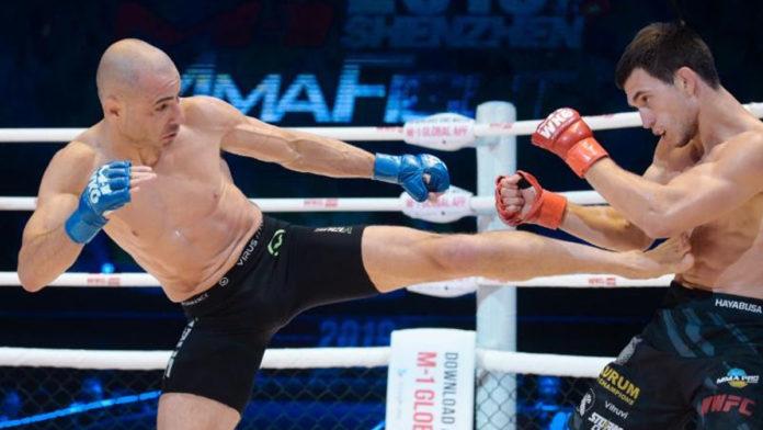 Chris Kelades defends M-1 Challenge Flyweight title against Assu Almabaev