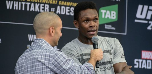 UFC middleweight champion Israel Adesanya