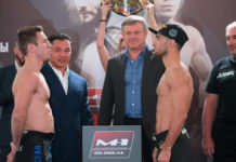 M-1 Challenge 105: Sergey Morozov vs Josh Rettinghouse weigh-ins