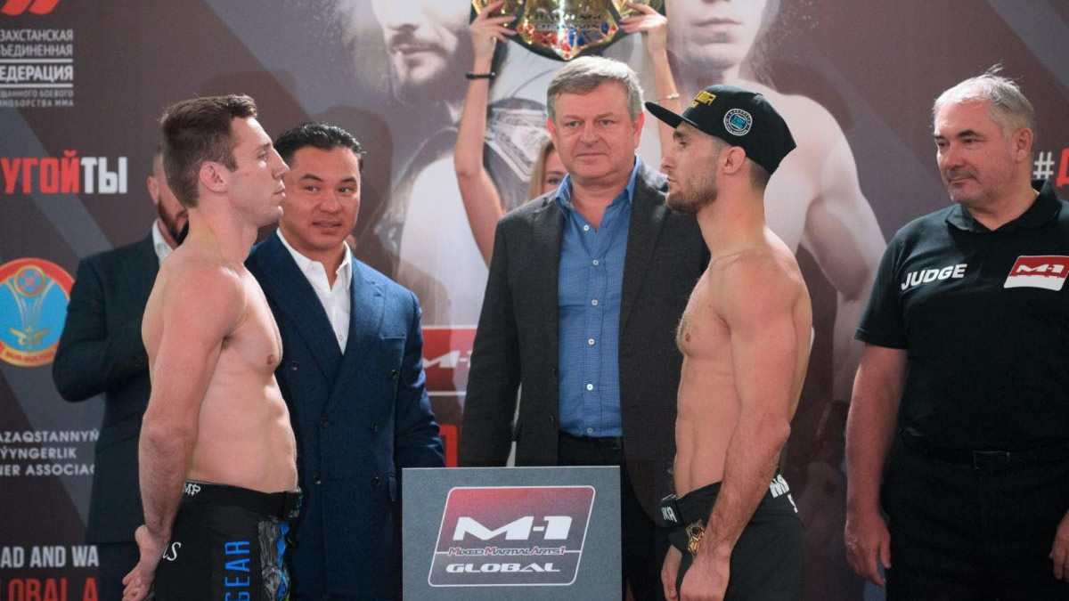 M-1 Challenge 105 weigh-in results, Morozov vs. Rettinghouse