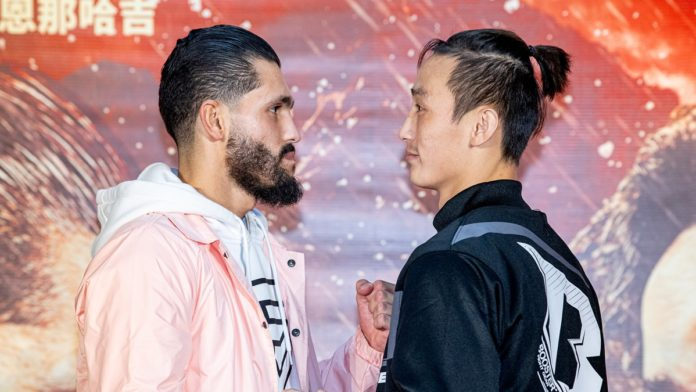 ONE Age of Dragons Ilias Ennahachi vs Wang Wenfeng weigh-in results