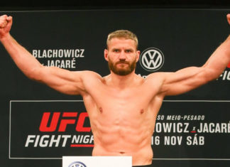 UFC Sao Paulo Jan Blachowicz weighs-in for his bout against Ronaldo Jacare Souza