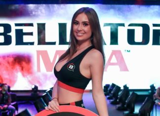 Louise Mckie Bellator MMA ring girl