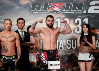 Patricky Freire weighs-in at Rizin 20