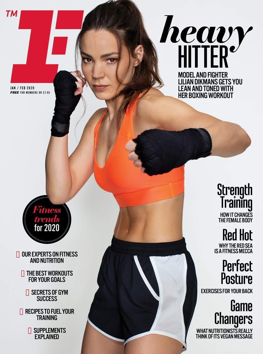 Lilian Dikmans on the cover Fitness First magazine