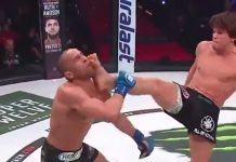 Ricardo Seixas KOs Dominic Clark with front kick and punches at Bellator 238
