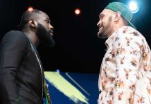 Denotay Wilder faceoff Tyson Fury at press conference