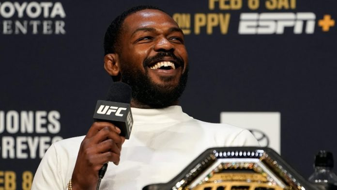 Jon Jones at UFC press conference
