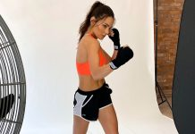 Lilian Dikmans Fitness First Magazine cover photoshoot