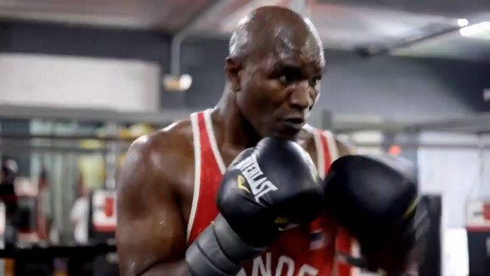 Evander Holyfield training for comeback fight