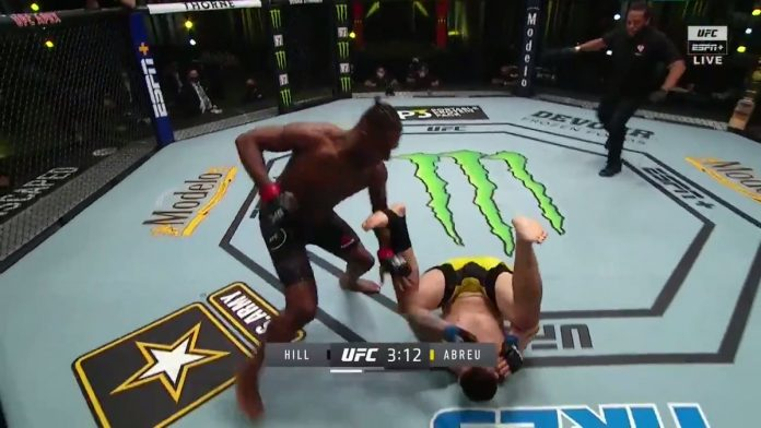 Jamahal Hill stops Klidson Abreu at UFC Vegas with knee and punches