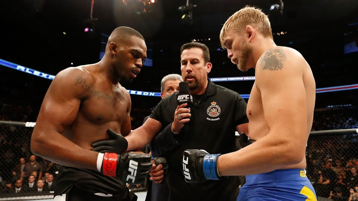 Watch Jon Jones in a five-round war with Alexander Gustafsson at UFC 165