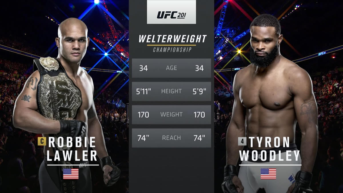 Watch Tyron Woodley KO of Robbie Lawler in UFC title fight