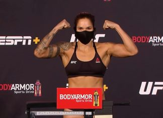 UFC champion Amanda Nunes weighs-in