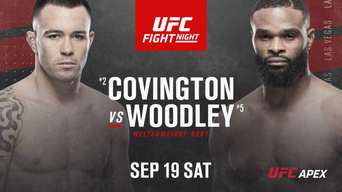 Colby Covington Vs Tyron Woodley Official For Ufc Fight Night Card On September 19 Fightmag