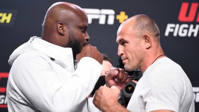 UFC heavyweights Derrick Lewis and Aleksei Oleinik faceoff ahead of their bout