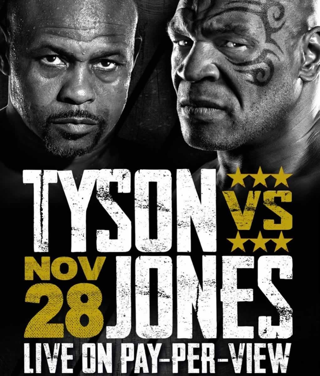 mike tyson confirms roy jones jr fight date change winner gets belt undercard bouts added fightmag mike tyson confirms roy jones jr fight