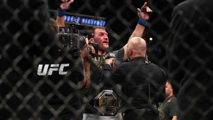 UFC heavyweight champion Stipe Miocic victorious over Daniel Cormier