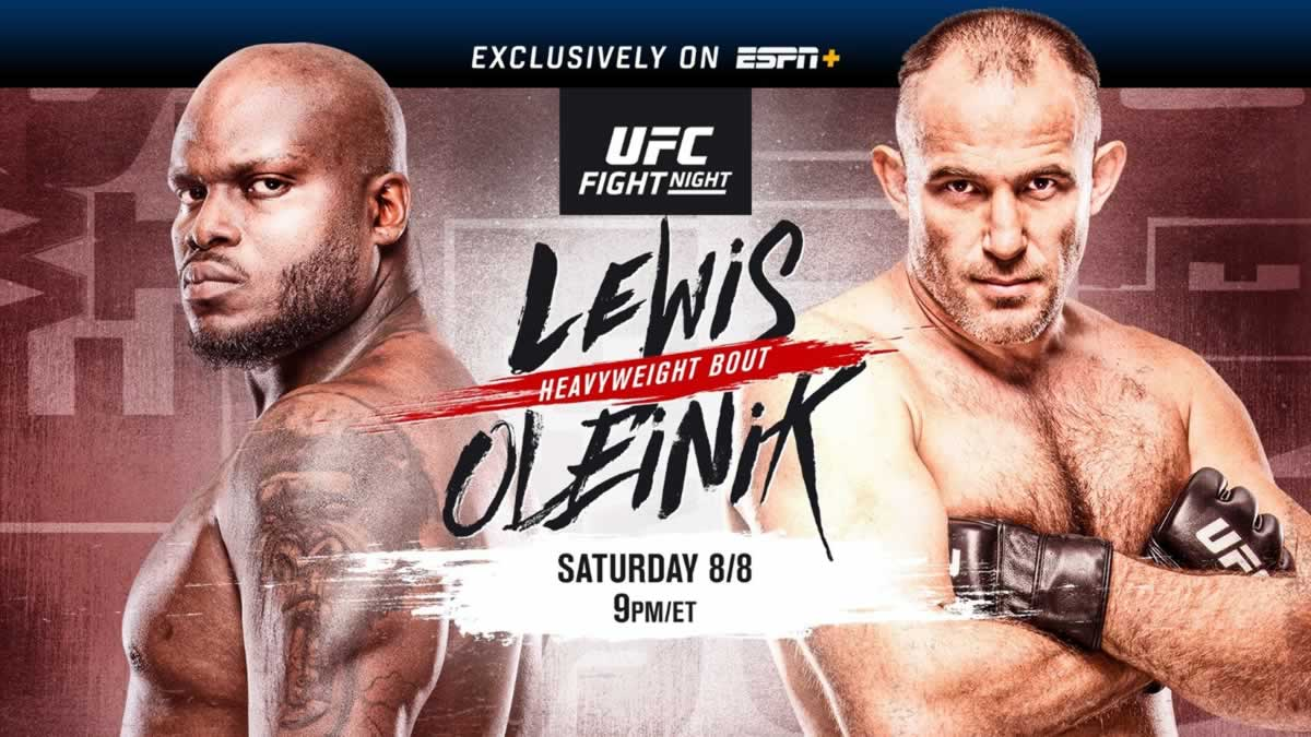 UFC Vegas 6 Lewis Vs Oleinik Start Time In USA Australia